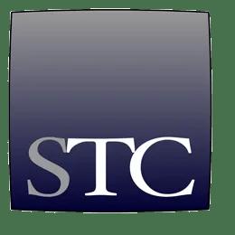 STC logo grayscale square