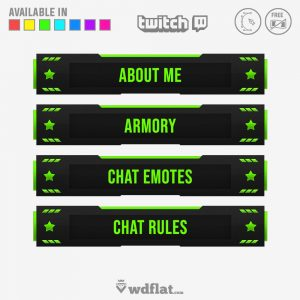 twitch overlay panels and