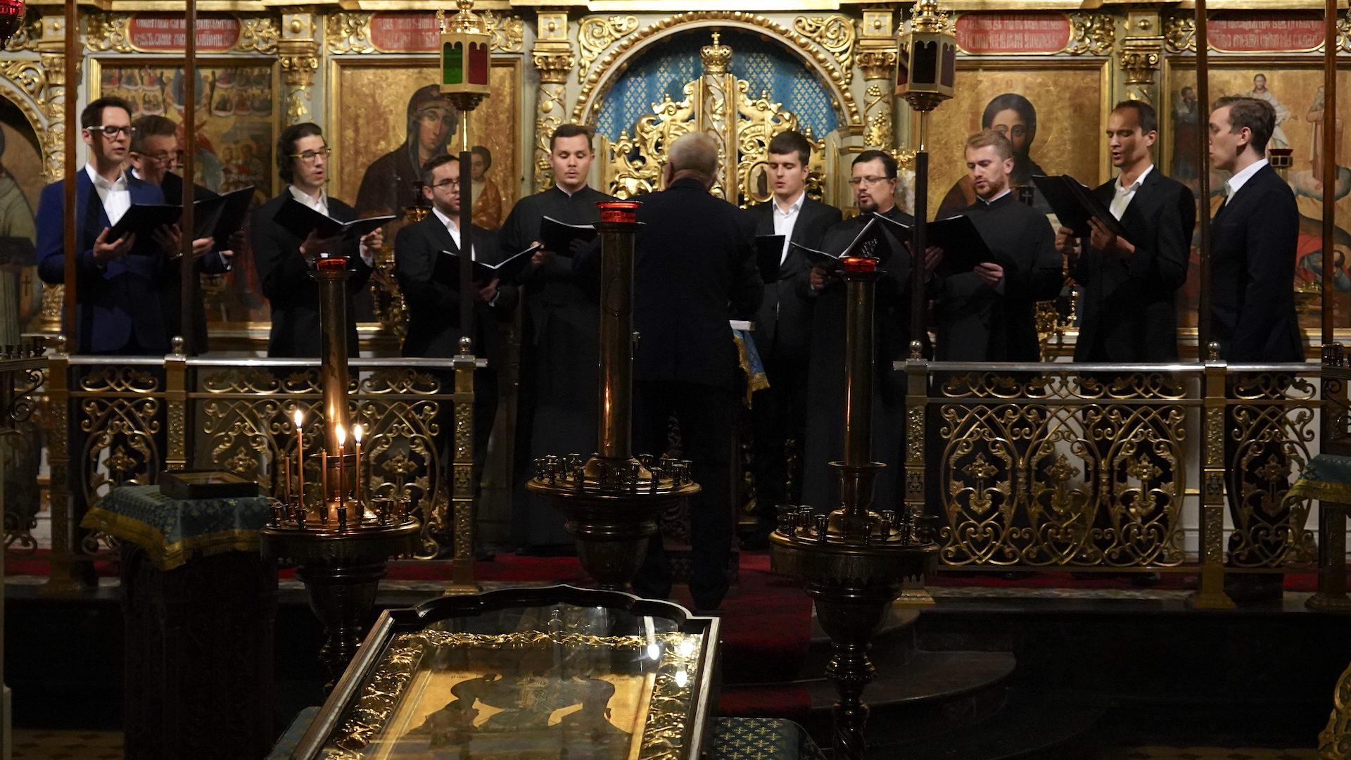 Kameralny Chór Męski Chrześcijańskiej Akademii Teologicznej w Warszawie pod dyrekcją Włodzimierza Wołosiuka