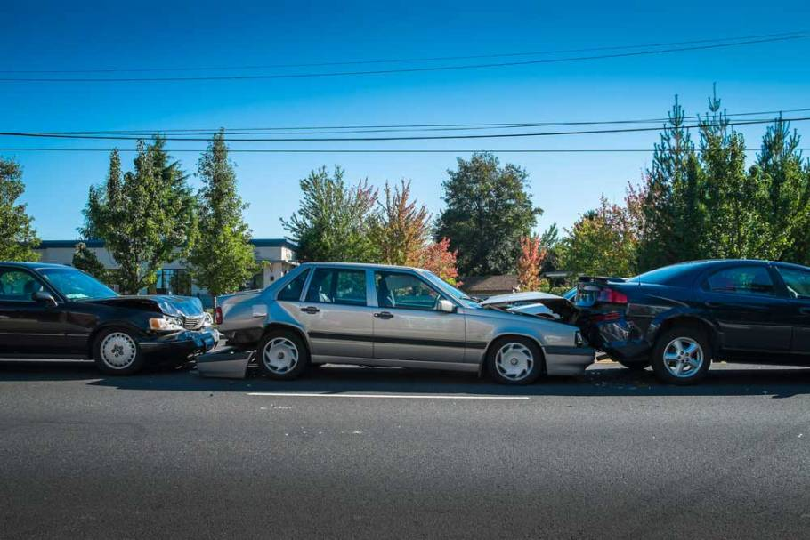 three car collision