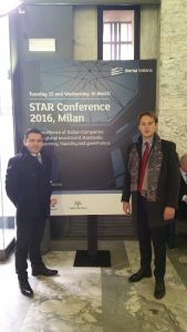 Dr. Jonathan De Giovanni and Dott. Francesco Maffia at the STAR Conference 2016, held in Milan