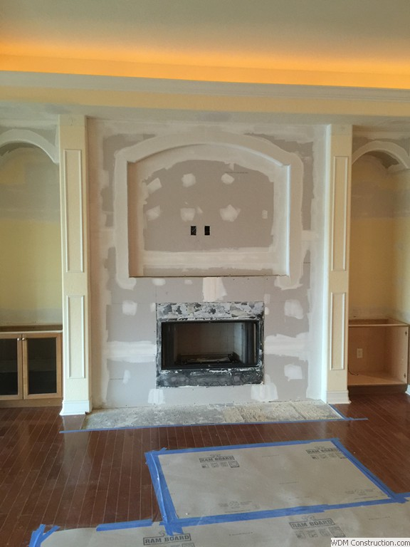 Gas Fireplace Door Replacement Wdm Construction Interiors Remodeling Gallery