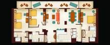 3-Bedroom Villa Floor Plan Disney World