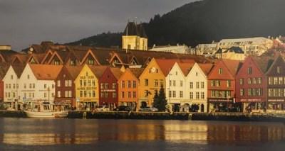 Bryggen District, Bergen, Norway by David Hall