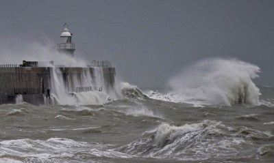 Storm Dennis Hits the Kent Coast by James Thatcher