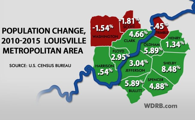 Sunday Edition Population Dips In Three Louisville Area Counties In Decade S First Half Wdrb