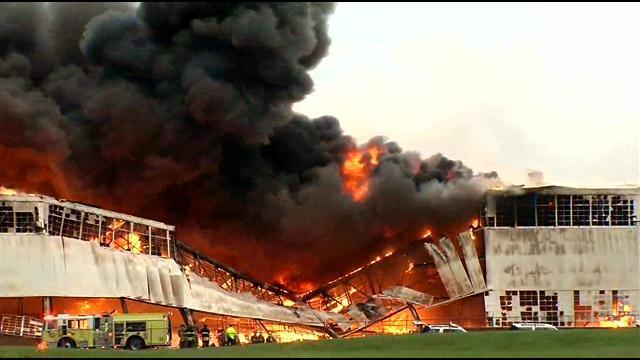 IMAGES Fire destroys storage building at GEs Appliance Park production canceled through next