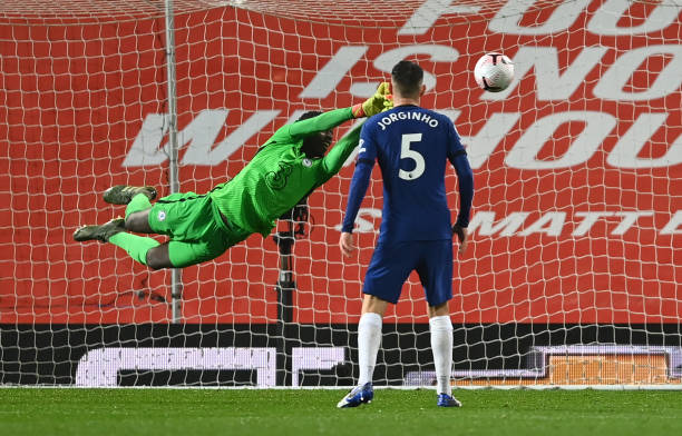 Edouard Mendy made a series of fine saves to keep Chelsea in the game