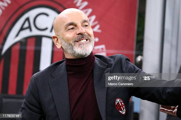STADIO GIUSEPPE MEAZZA, MILANO, ITALY - 2019/10/31: Stefano Pioli, head coach of Ac Milan, looks on before the the Serie A match  between  Ac Milan and Spal.  Ac Milan wins 1-0 over Spal. (Photo by Marco Canoniero/LightRocket via Getty Images)