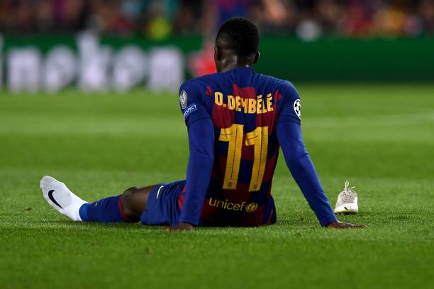 Dembele out again after suffering hamstring injury
