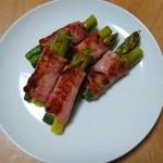 【お弁当のおかず】アスパラベーコン巻きは運動会のお弁当の一品にも。