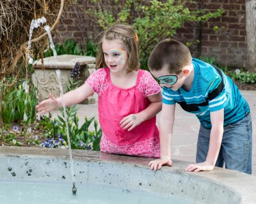 WATER! These two can't wait for summer so they can go play in water all the time.