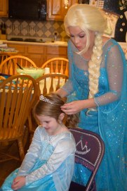 Being crowned royalty by the Ice Queen.