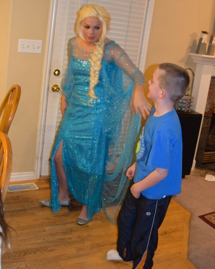 Even brother was super excited to see the Ice Queen.