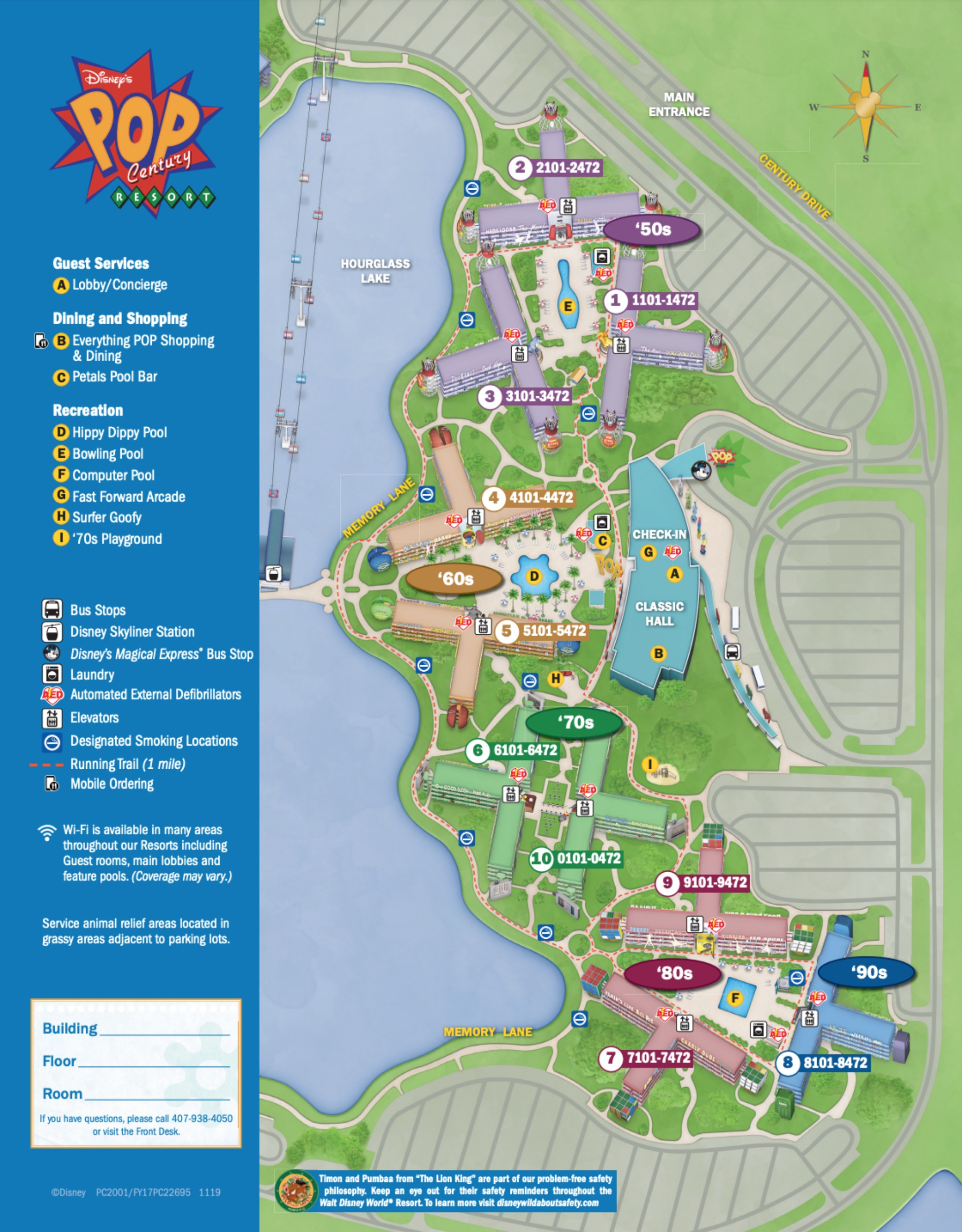 Pop Century Resort Map : century, resort, Disney's, Century, Resort, Wdwinfo.com
