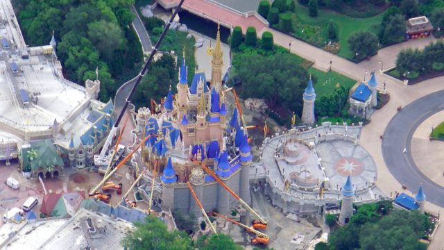 Aerial view of Cinderella Castle Construction before reopening! 3