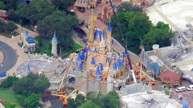 Aerial view of Cinderella Castle Construction before reopening! 2