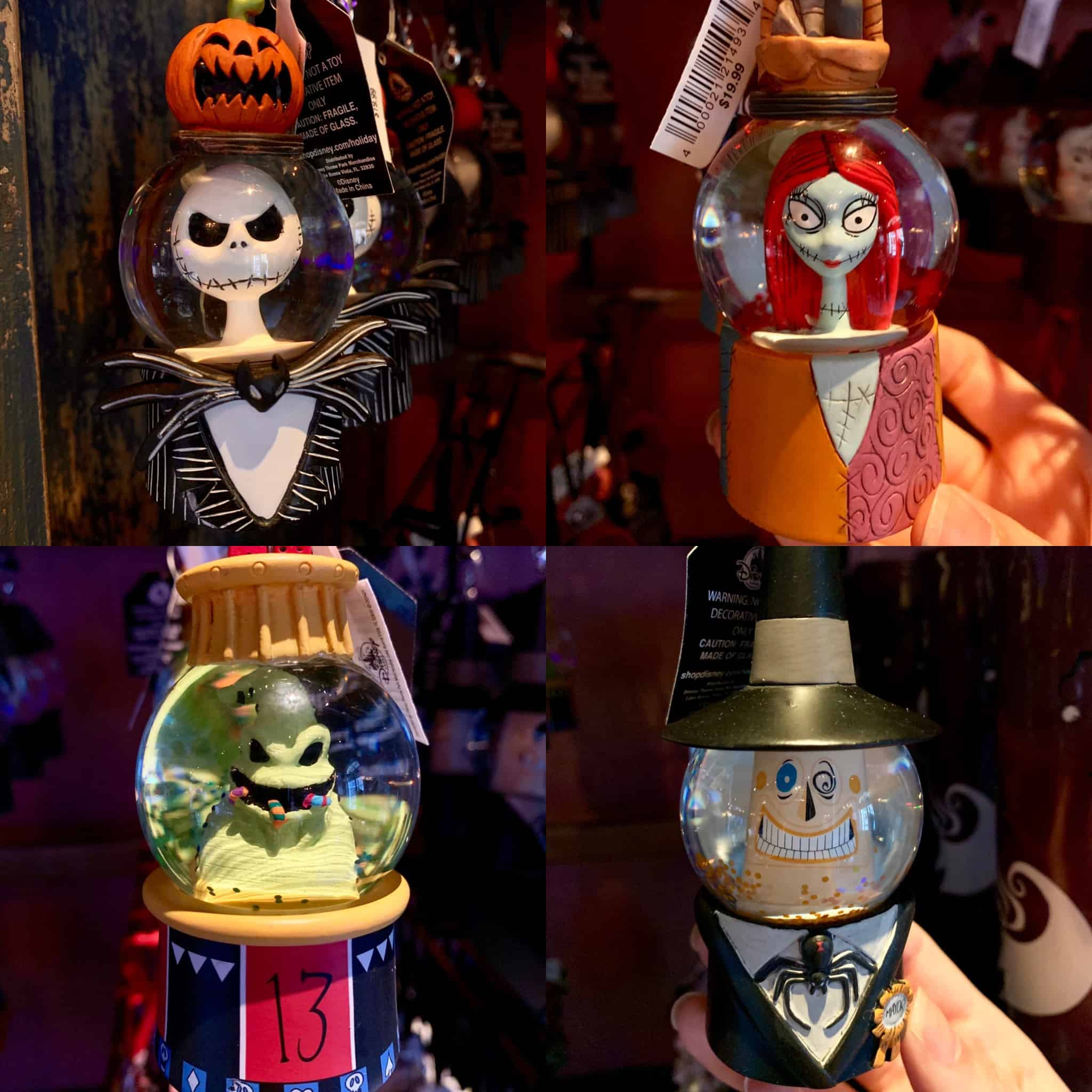 Photos New The Nightmare Before Christmas Snow Globe Ornaments Debut At Disneyland Park Wdw News Today