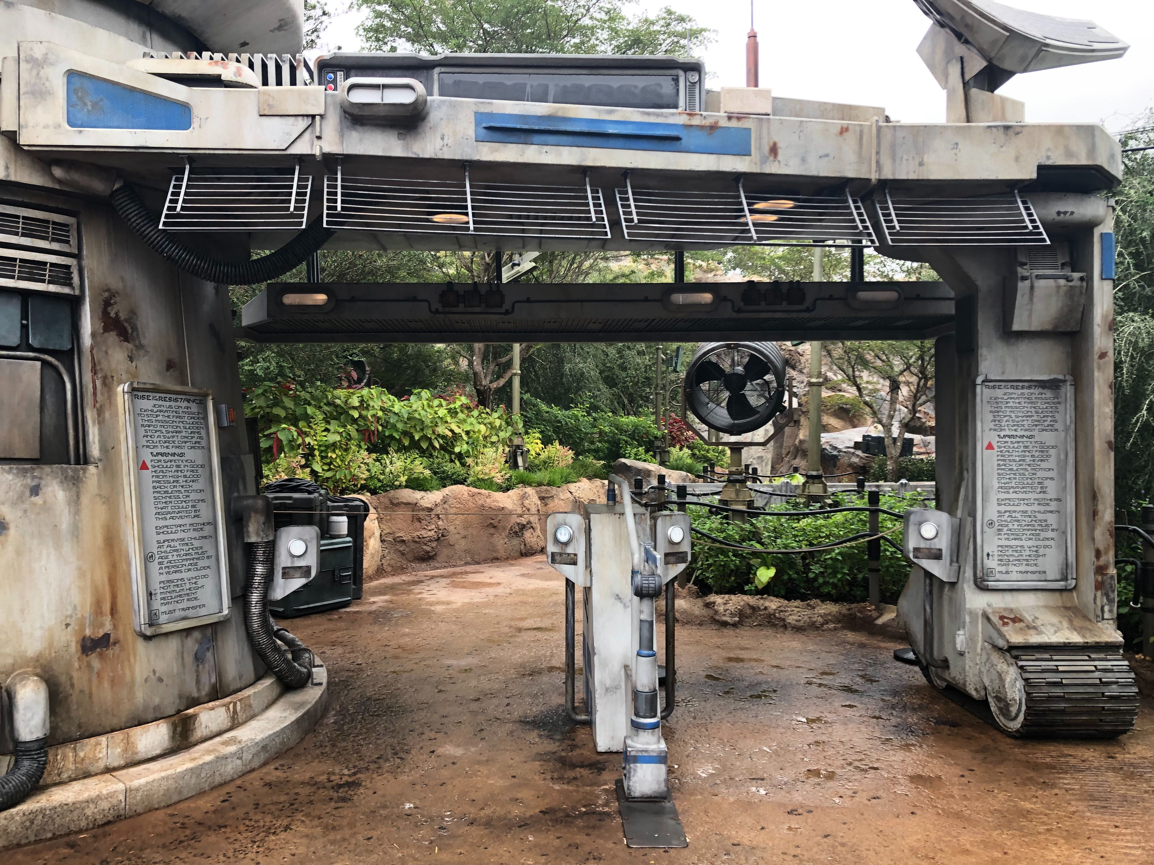 Ride Related Signage For Star Wars Rise Of The Resistance Installed