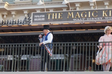 The Mayor of Main Street U.S.A. at the Magic Kingdom Rope Drop Ceremony 2015. Photo: Jane Collins