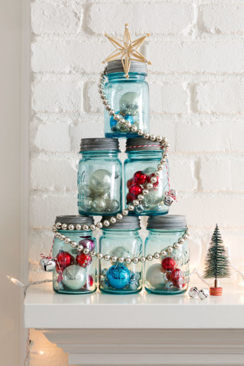 This is a cute and easy way to dress up your mantel or entryway. Get the tutorial at Country Living.
