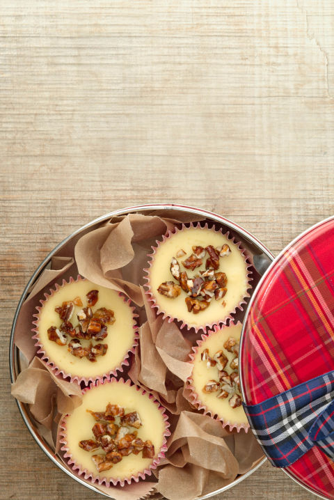 These marvelous mini cheesecakes, with a sweet pecan topping and buttery shortbread crust, are perfect to serve guests at a holiday dinner party or to give away as a gift. Get the recipe.