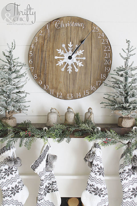 Countdown the days until Christmas with this one-of-a-kind DIY timepiece. Get the tutorial at Thrifty & Chic. What you'll need:Wood glue ($6; amazon.com); Wood stain ($8; amazon.com); Color stain ($11, amazon.com)