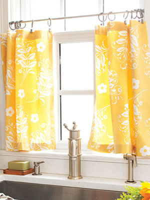 How To Make Kitchen Curtains DIY Cafe Curtains