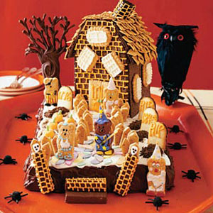 Haunted Gingerbread Cookie House