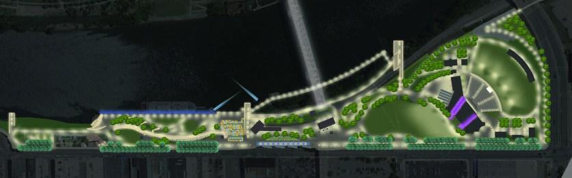 West Riverfront Park and Amphitheater / Nashville, TN / Courtesy of Domingo González Associates
