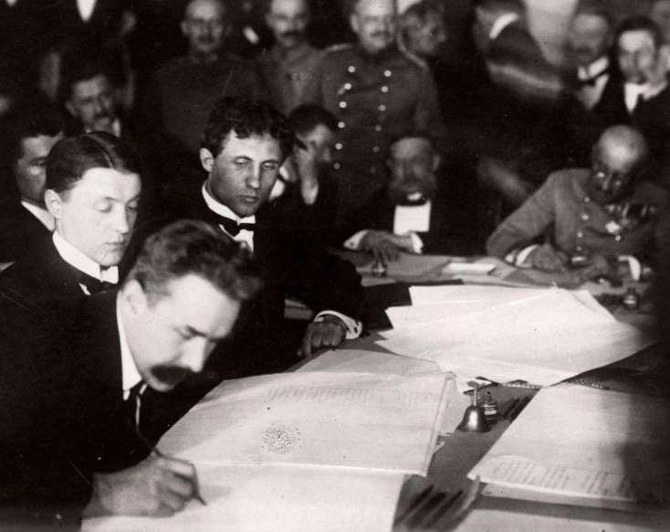 Мирные переговоры в Брест-Литовске в 1918 году, в результате которых был заключен Брестский мир