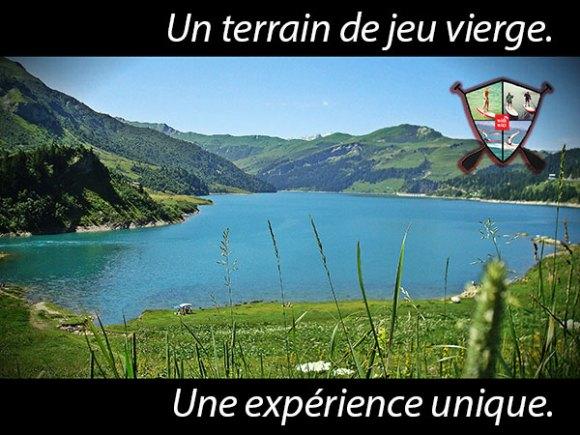 Alpine lakes tour Roselend
