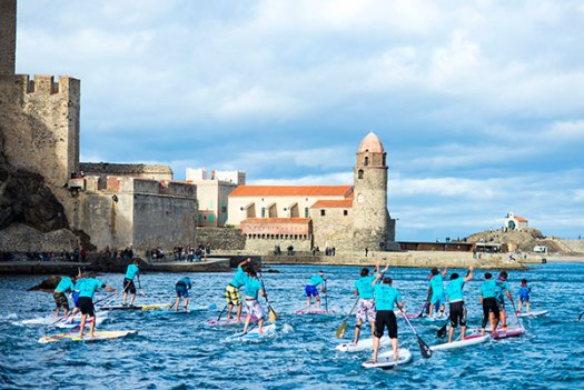 Championnat de France de stand up paddle à Collioure