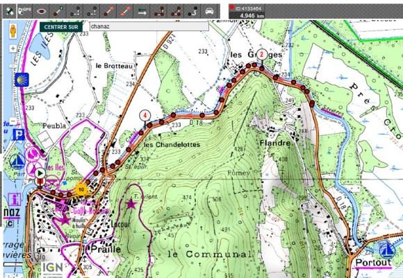 Parcours 5 km Canal de Savière
