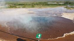 Sulphur and hot spring