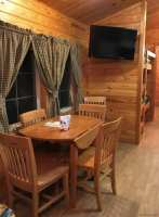 KOA Deluxe cabin eating area