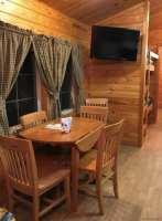 KOA Deluxe cabin eating area