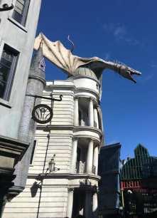 Gringotts Dragon in Diagon Alley in Universal Studios