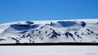 The incredible views on the Langjokull glacier