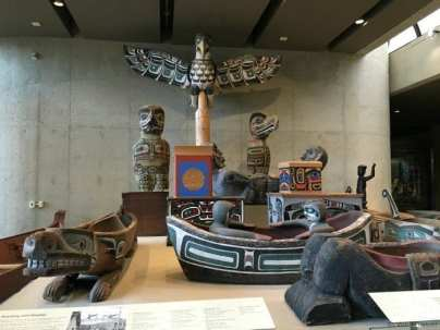 MOA totem display and dishes