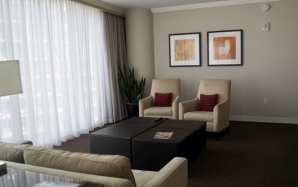 Loews suite sitting area