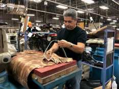 Lucchese leather cutting