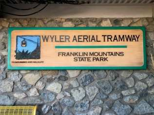 Wyler Aerial tramway sign