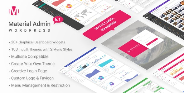 Material 6.1 - White Label WordPress Admin Theme