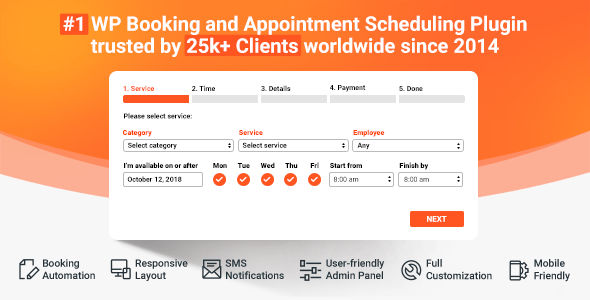 Bookly Pro 17.6 (Nulled) - Appointment Booking and Scheduling Software System