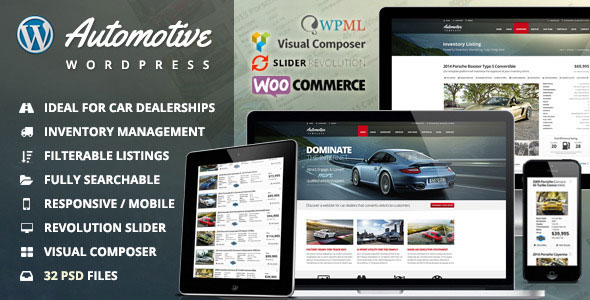 Automotive 11.4.1 (Nulled) - Car Dealership Business WordPress Theme