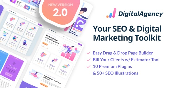 SEOWP 2.1 – SEO & Digital Marketing WordPress Theme – WeaDown