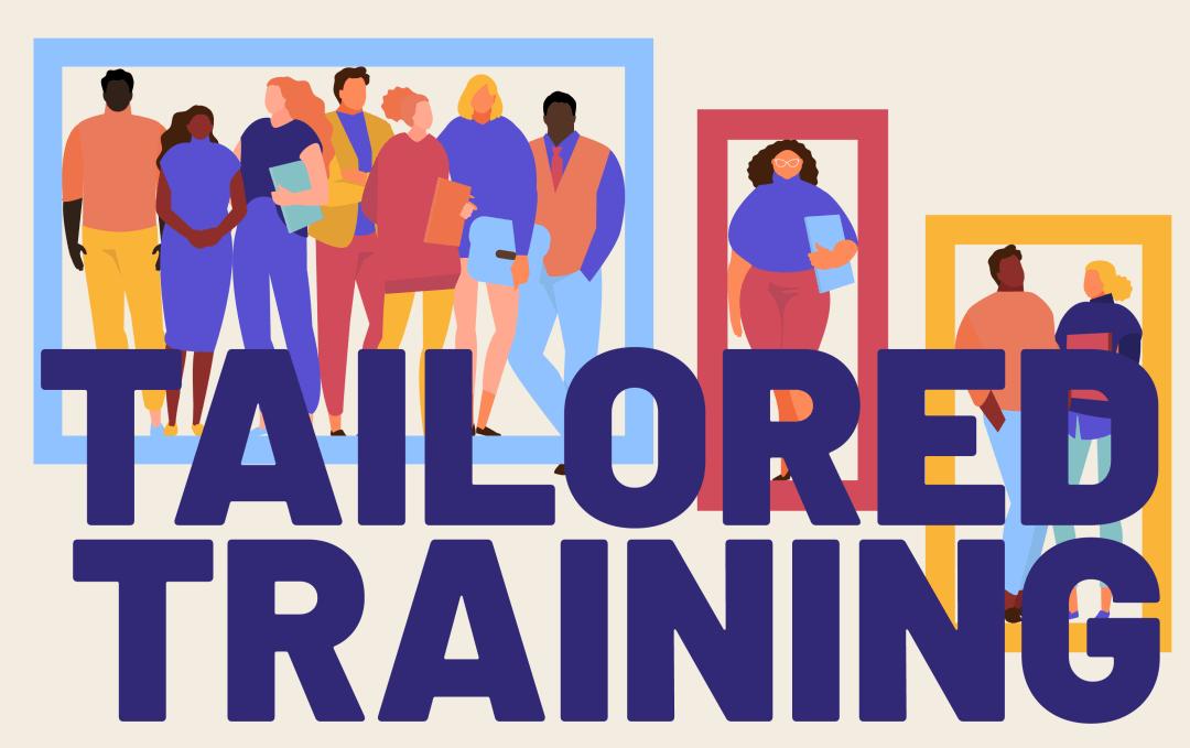 tailored training graphic