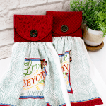 Kitchen Towel With Quilted Holder Weallsew