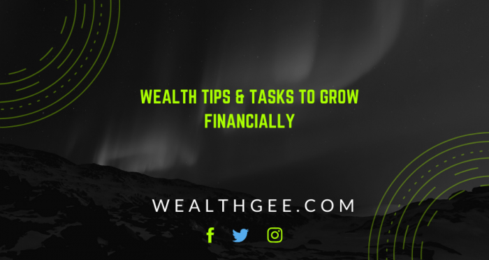 Tips to grow financially